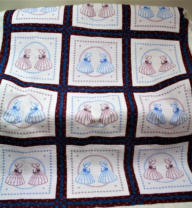 Cross stitch Sunbonnet Sue (front)