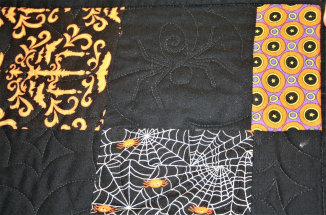 Scrappy Halloween Quilt (close up)