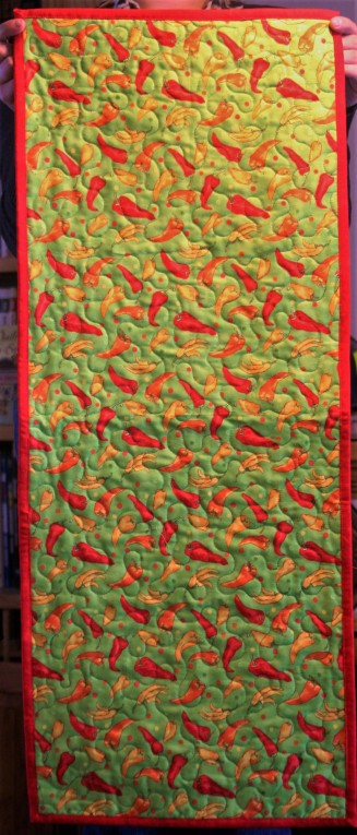New Mexico Chili Tablerunner (back)