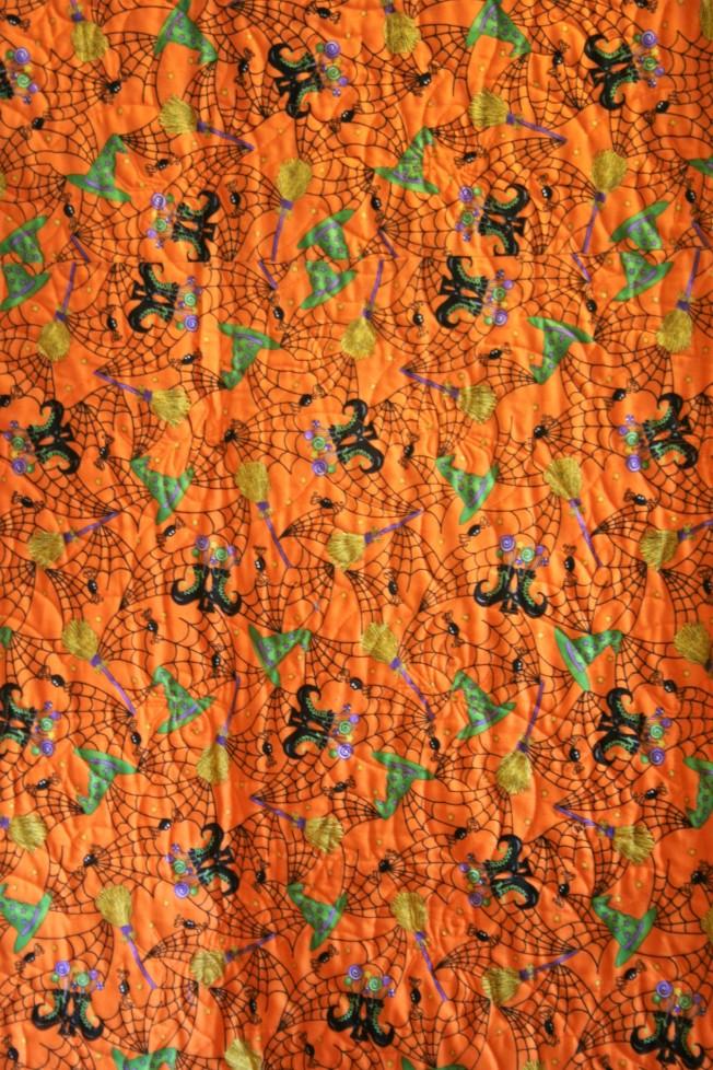 Scrappy Halloween Quilt (back)
