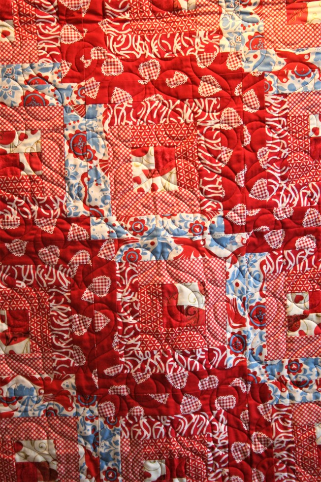 Red Hearts and Ribbons (close up)