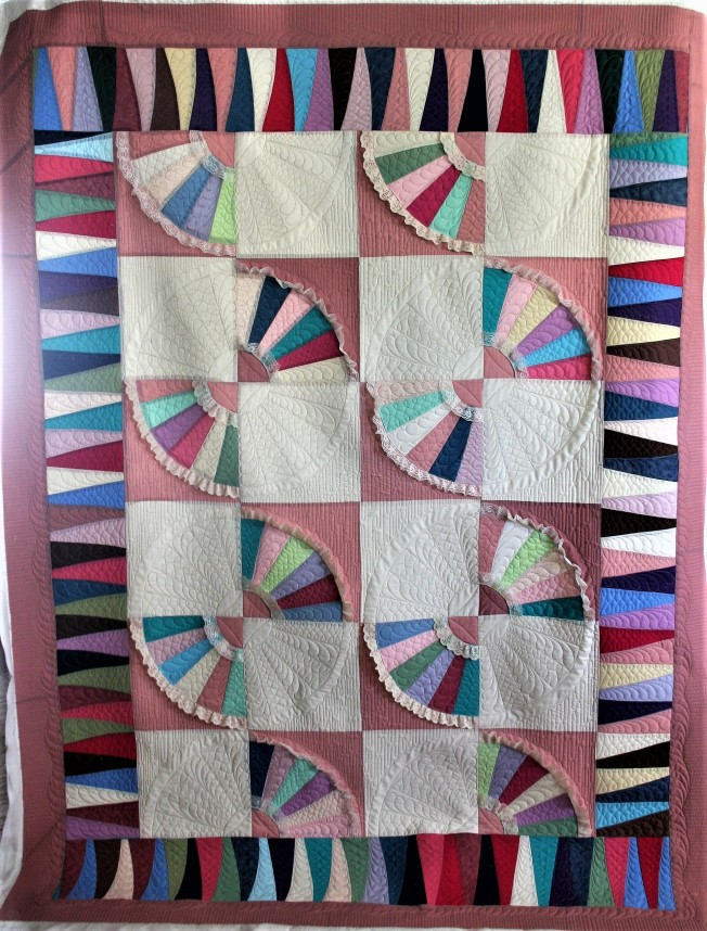 Patchwork Fan Quilt (front)