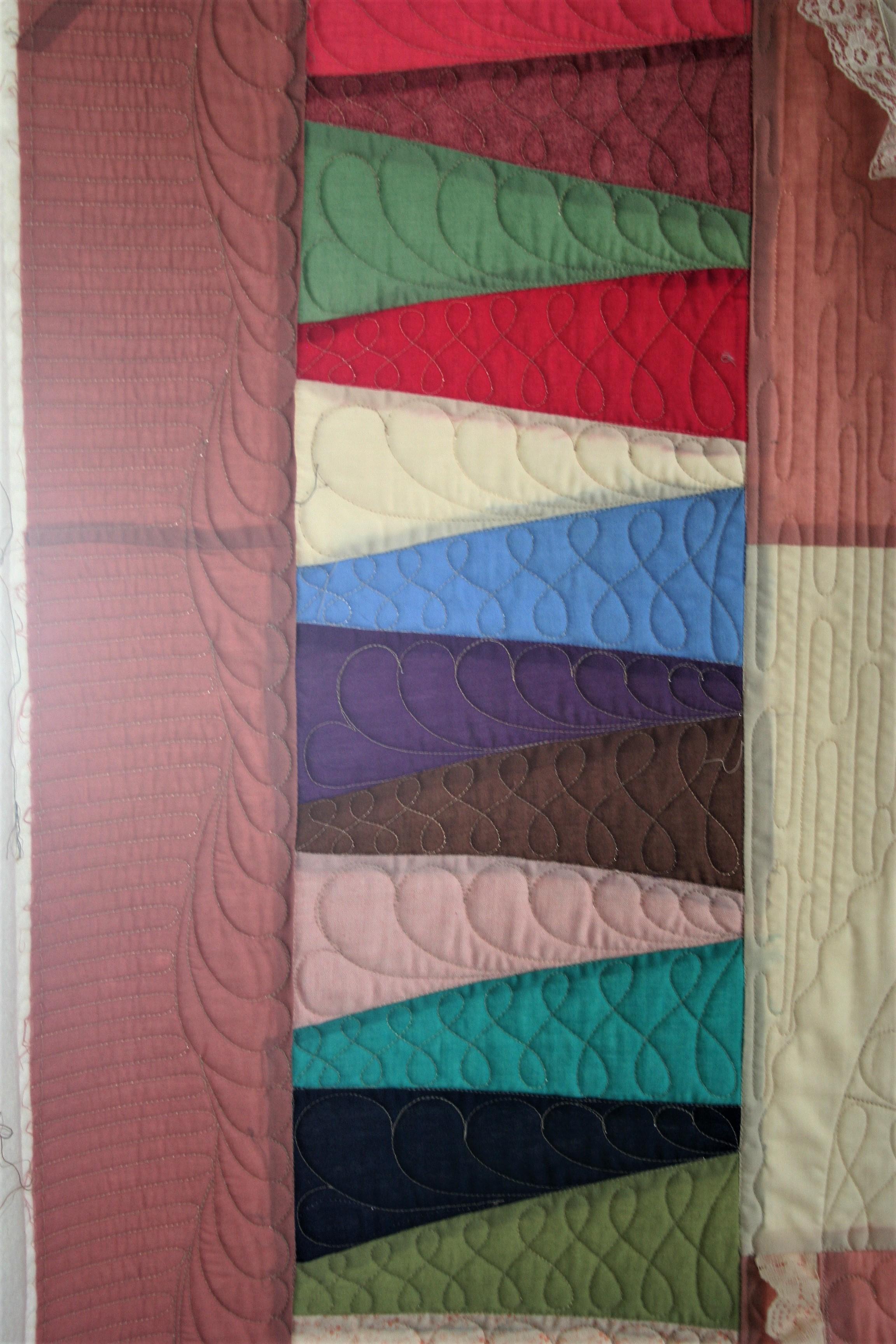 Patchwork Fan Quilt (close up 2)