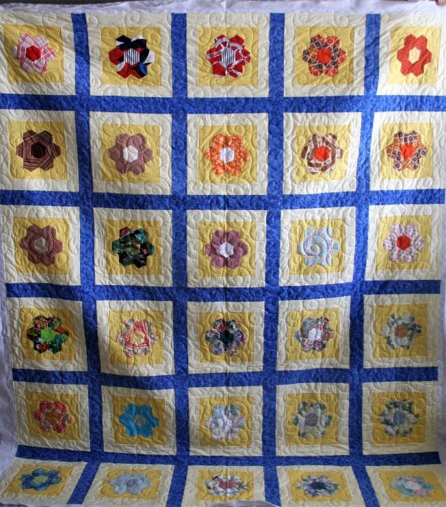 Grandma's Flowers and Swirls (front)