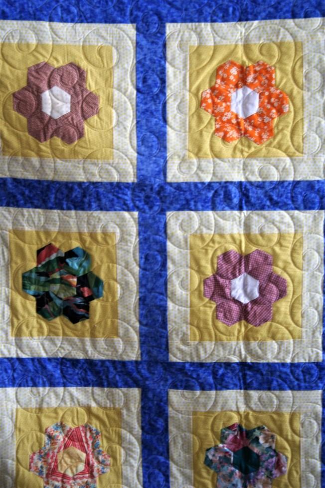 Grandma's Flowers and Swirls (close up)