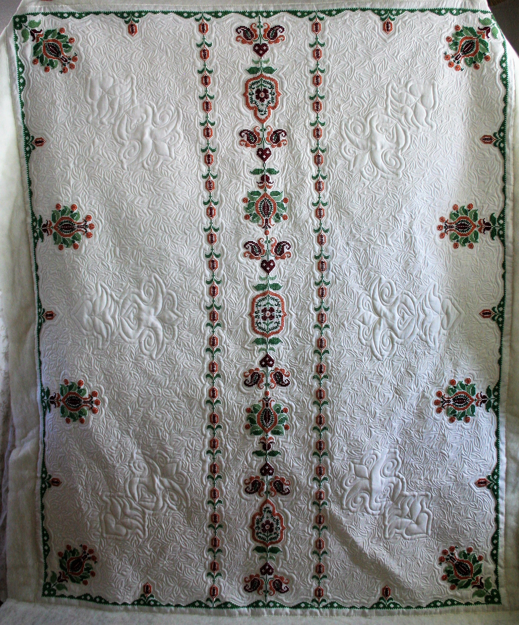 Cross Stitch Table Cloth (front)