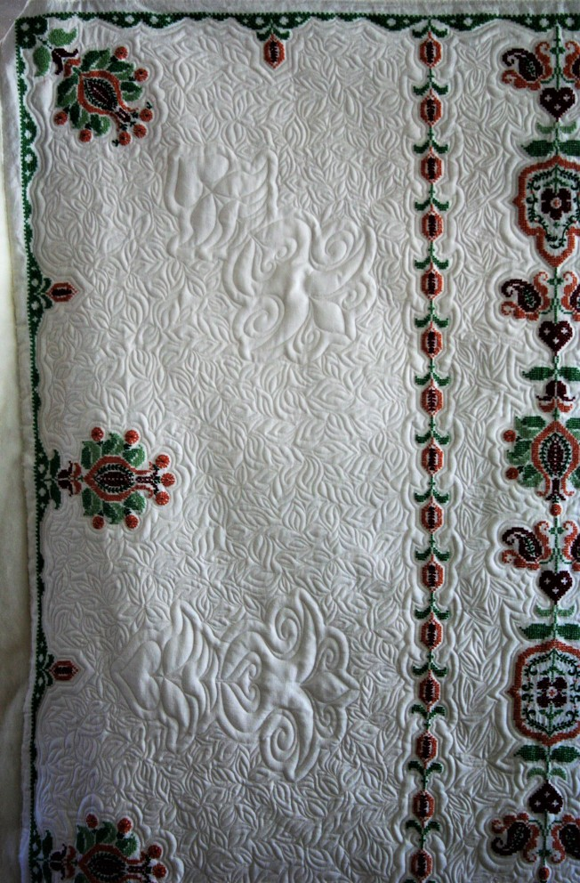 Cross Stitch Table Cloth (close up 1)