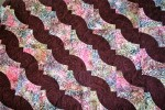 Burgundy and Batik Paisley Quilt