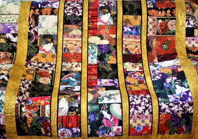 Oriental Panel Quilt (front)