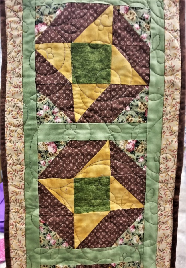 Autumn Brown Table Runner (front)