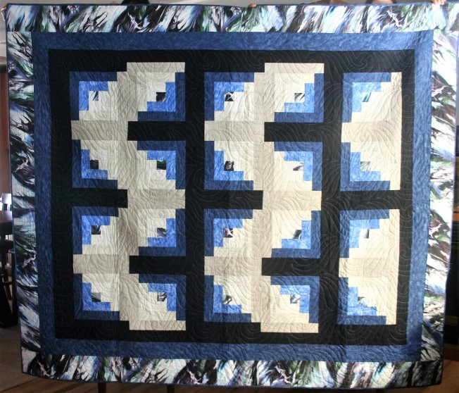 Blue Log Quilt (front)