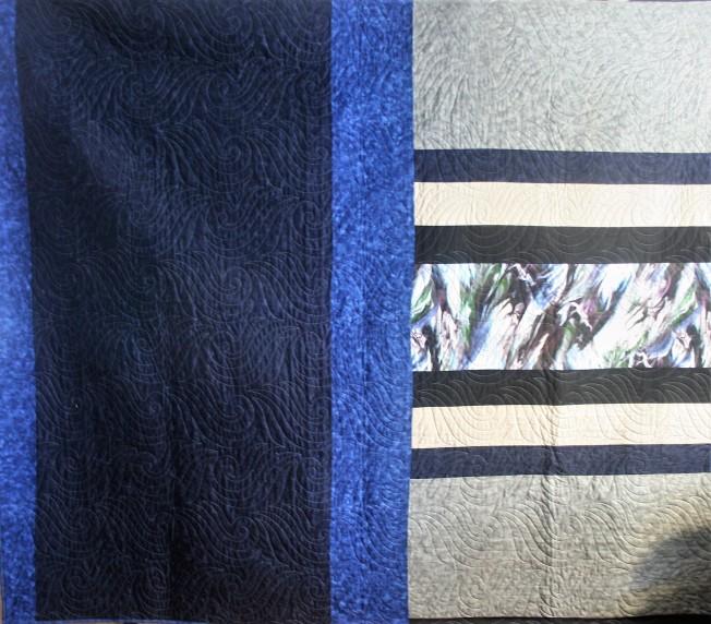 Blue Log Quilt (back)