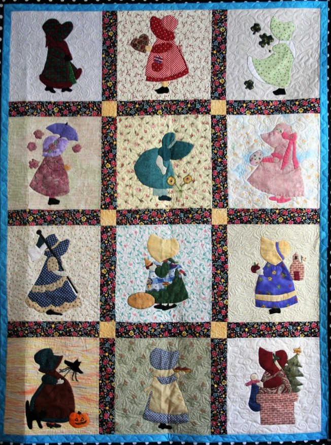 Applique Sunbonnet Sue (close up 1)