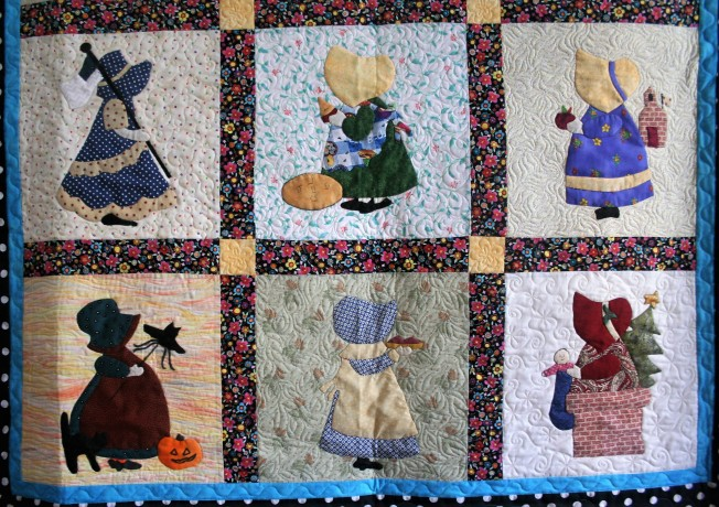 Applique Sunbonnet Sue (close up bottom)