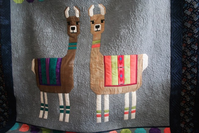 Llama Quilt (close up 1)