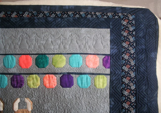 Llama Quilt (close up border)