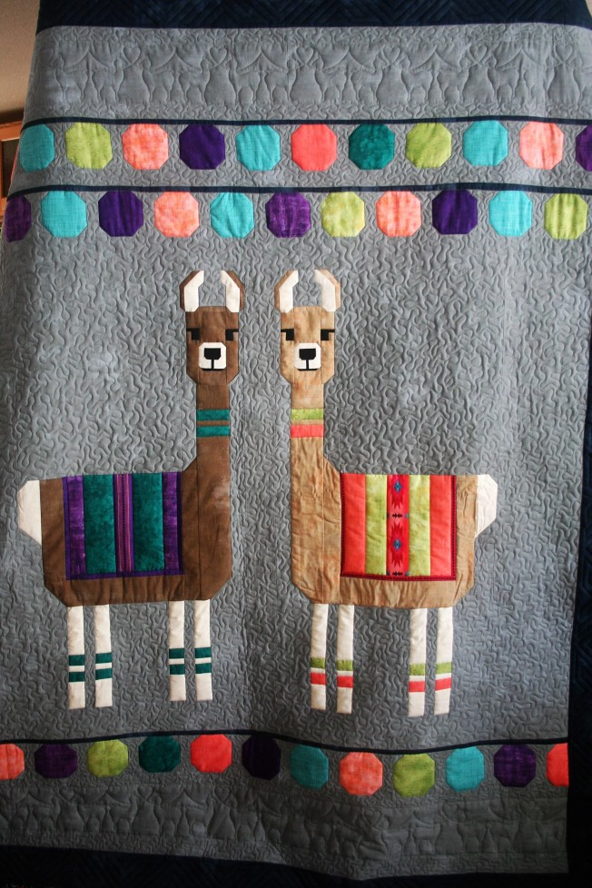 Llama Quilt (close up 2)