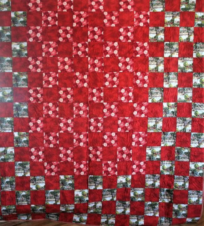 Coca Cola Quilt (front)