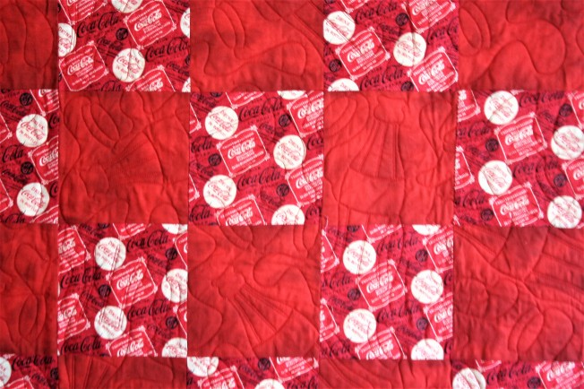 Coca Cola Quilt (close up 2)