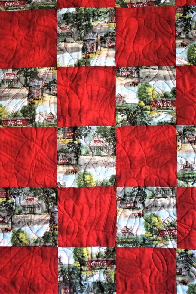 Coca Cola Quilt (close up 1)