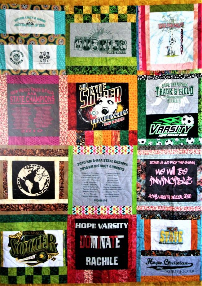 Hope Star T-Shirt Quilt (close up 1)