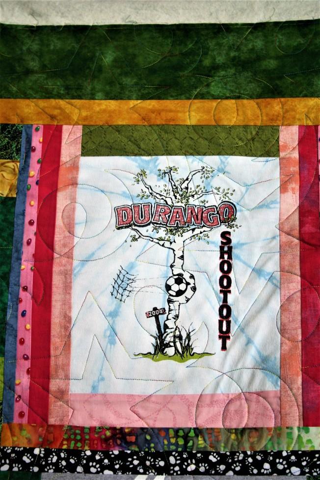 Hope Star T-Shirt Quilt (close up 2)