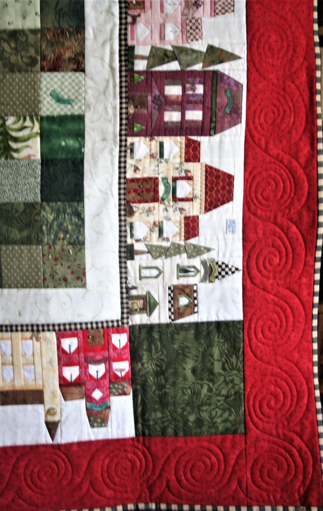 House Quilt Border (close up)