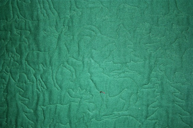 Flannel Green Woodsy Quilt (back)