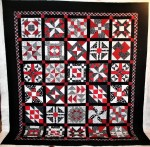Mom's Red and Black Quilt