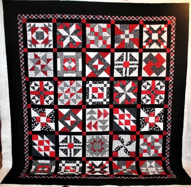Mom's Red and Black Quilt (front)