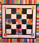 Flowers on a Checkerboard