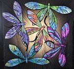 Dragonflies on aSunburst