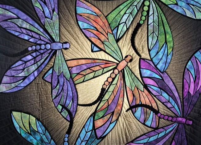 Dragonflies on Sunburst (close up)