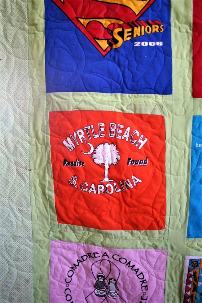 Butterfly T Shirt Quilt (Close Up)