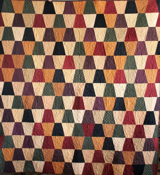 Flannel Tumbling Blocks (front)