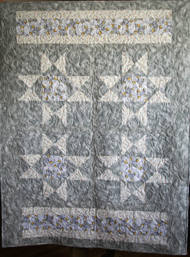 Elephant Baby Quilt (front)