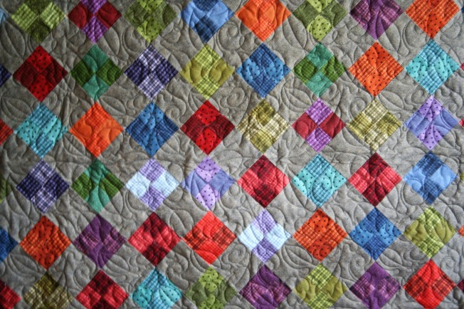 Cozy Wool Quilt (close up)