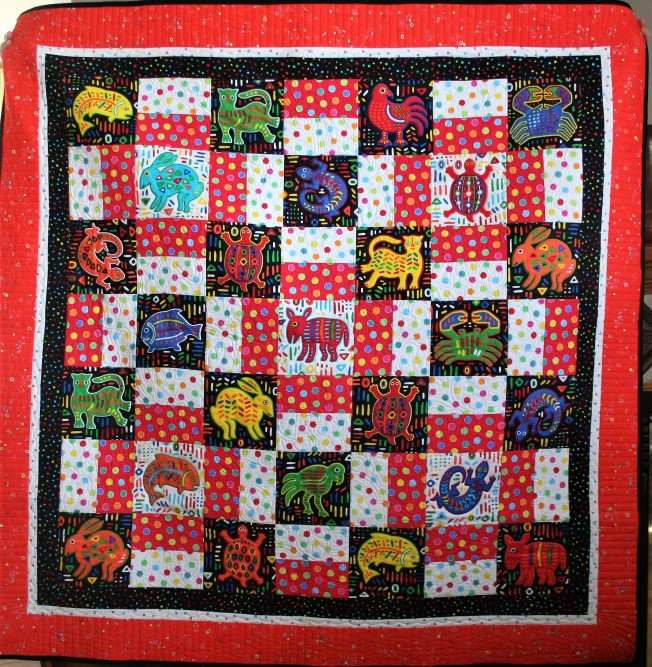 Mola Baby Quilt (front)
