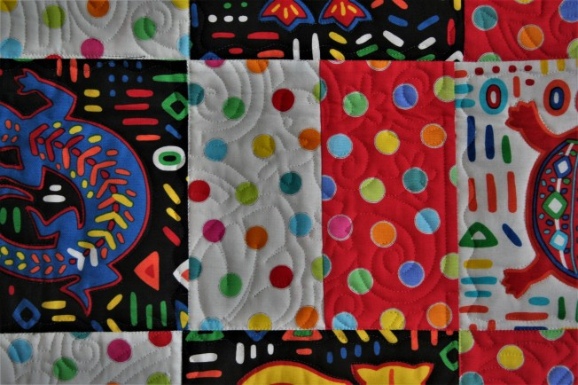Mola Baby Quilt (close up)