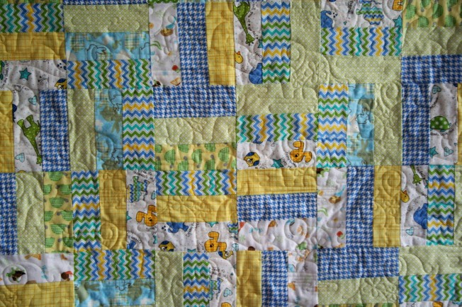 Yellow Flannel Elephants (close up)