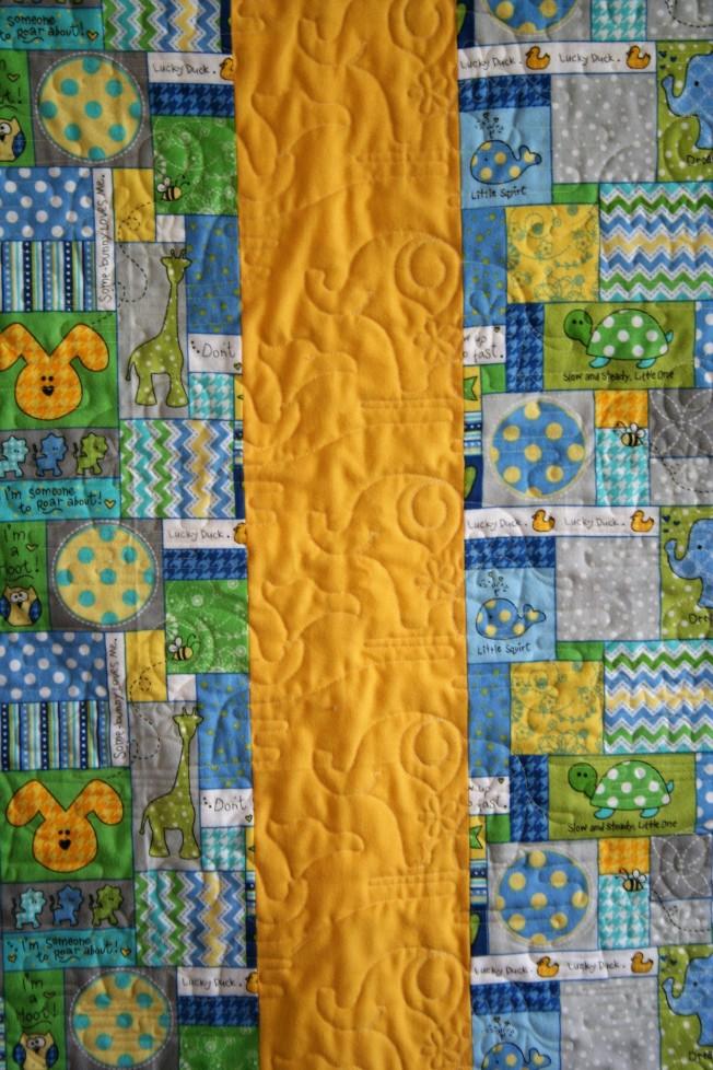 Yellow Flannel Elephants (back)