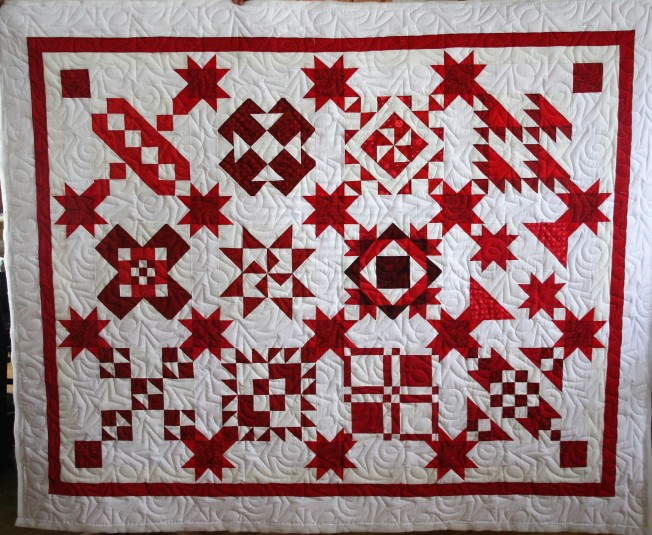Red and White Sampler (front)