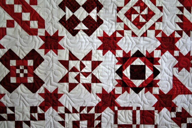 Red and White Sampler (close up)