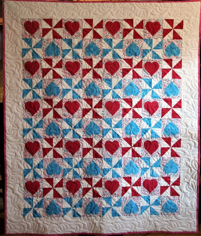Hearts and Pinwheels (front)