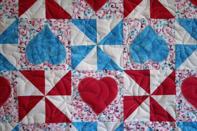 Hearts and Pinwheels (close up)