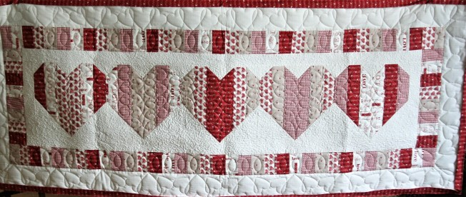 Heart Bed Runner (front)