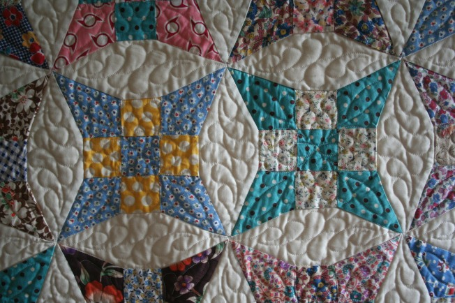 Antique Bed Runner (close up 1)