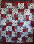 Red/Gray Grad Quilt