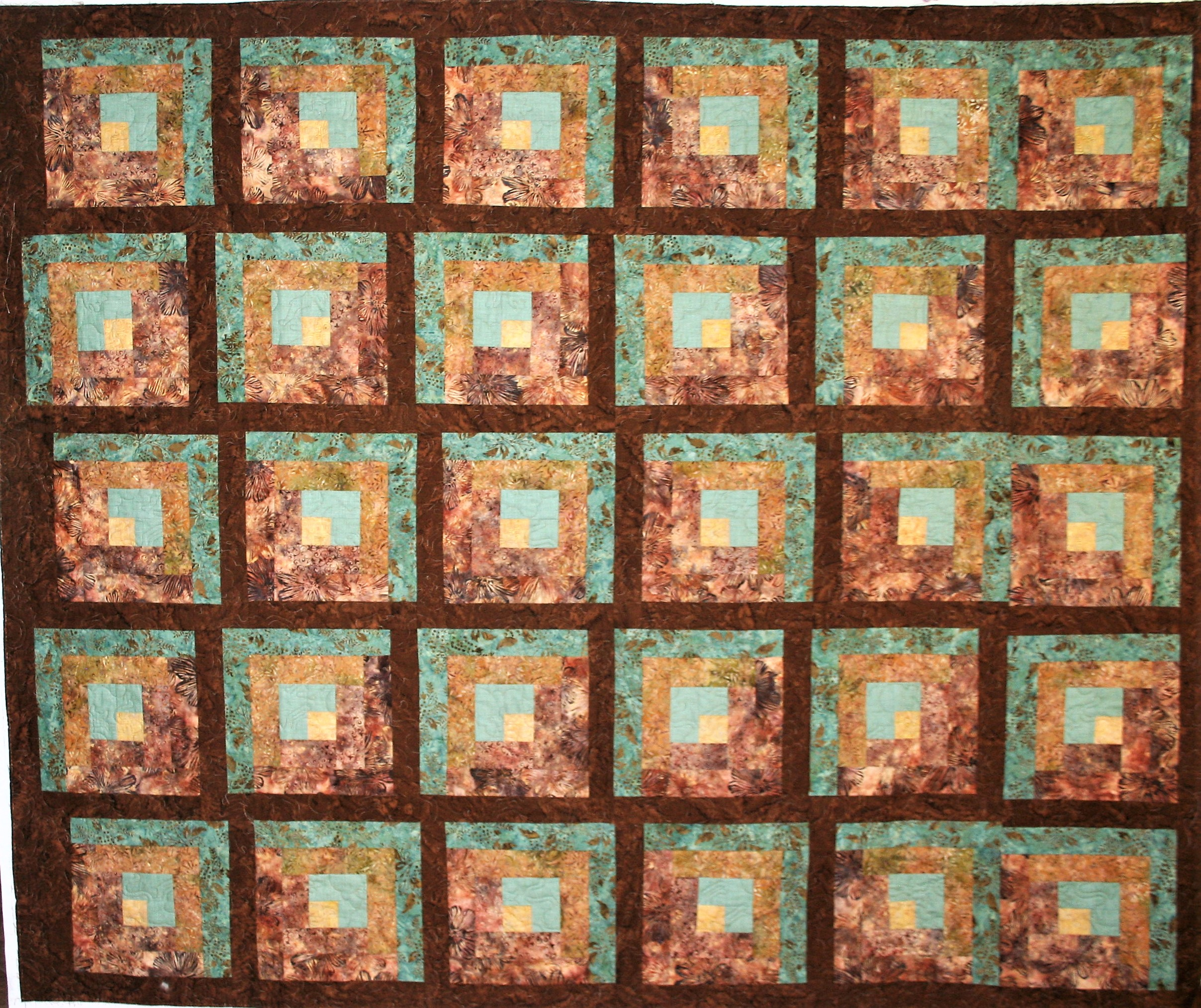 Earth tone Cat Quilt (front)