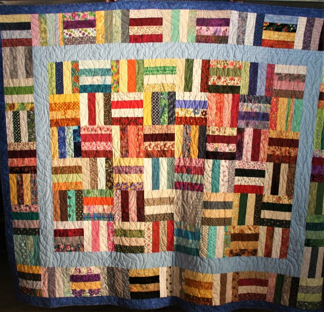 Star Spangled Scrappy Quilt (front)